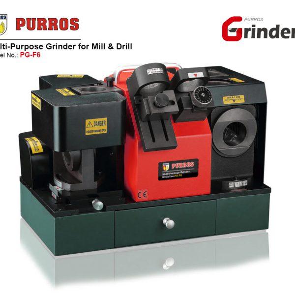 Complex Grinder for Drill & End Mill, End Mill Grinder, Drill Bit Grinder, PURROS PG-F6 Multi-Purpose End Mill and Drill Grinder, Cutter Angle Grinder, Cutter Point Sharpening Machine, Bench Angle Grinder, Best Angle Grinder Manufacturer